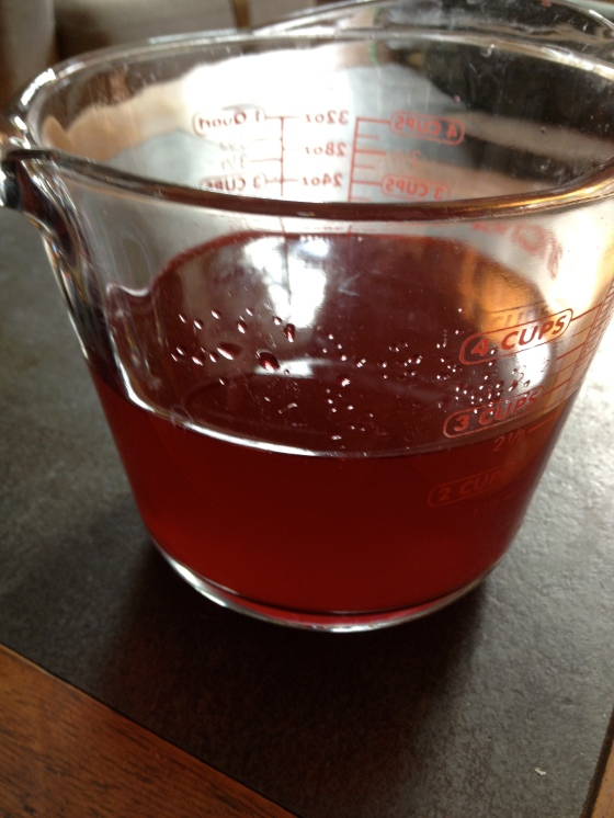 White Balsamic Raspberry Vinegar. Somehow I neglected to get a pic of the black balsamic.