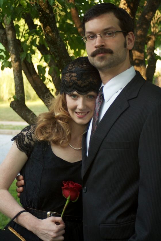 Please ignore the hubby's facial hair here. I promise he isn't as creepy as he looks!